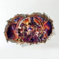 Samolepka na zeď Avengers