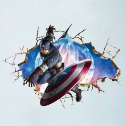 Samolepka na zeď Kapitán Amerika