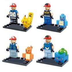 Figurky POKEMON k LEGO 8 ks