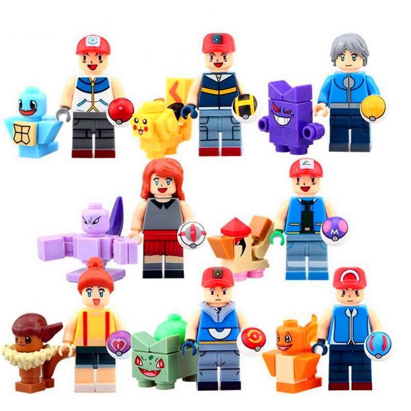 Figurky POKEMON k LEGO 16 ks