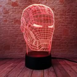 3D LED Lampička Iron Man ma RŮZNÉ BARVY