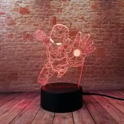 3D LED Lampička Iron Man postava