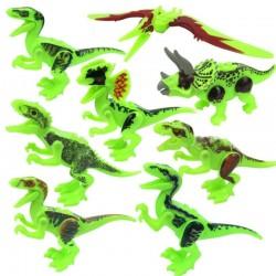 Svítící figurky Jurský Svět Dinosauři k LEGO 8 ks