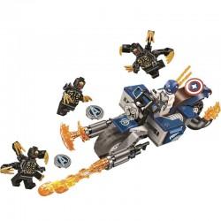 Stavebnice motorka Kapitán Amerika k LEGO