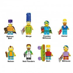Figurky Simpsonovi k LEGO 8 ks