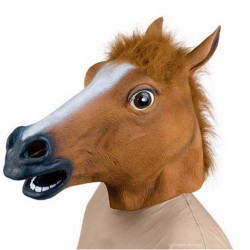 Vtipná maska koně na karneval