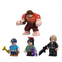Figurky Raubíř Ralph k LEGO 4 ks