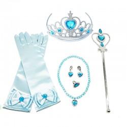Set Elsa Ledové Království - korunka rukavice a hůlka