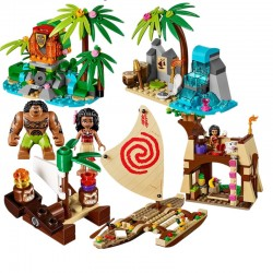 Stavebnice Odvážná Vaiana k LEGO 515 dílků plavba po oceánu