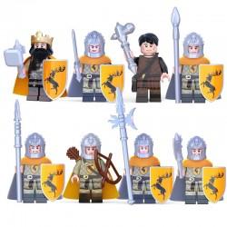Figurky Hra o Trůny k LEGO 8 ks rod Baratheonů