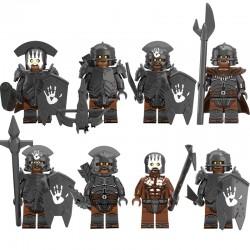 Figurky Pán Prstenů Armáda železného pasu k LEGO 8 ks