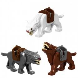Figurky Vlci 3ks Hobbit a Pán Prstenů k LEGO