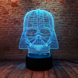 3D LED Lampička Darth Vader Star Wars