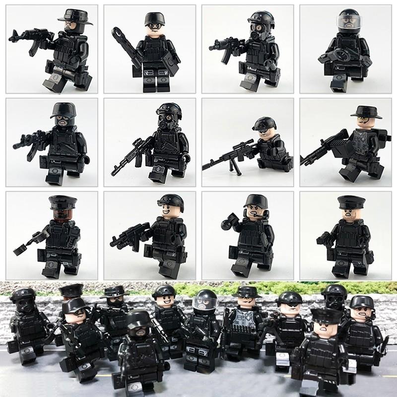 Figurky speciální tým SWAT Policie k LEGO 12 ks