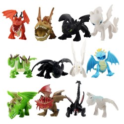 12 ks figurek z filmu Jak vycvičit draka draci