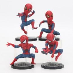 Figurky Spiderman s podstavcem 4 ks