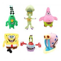 SET plyšáků Spongebob 6 ks 20 cm
