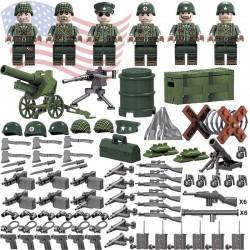 Figurky set amerických vojáků 2. Světová válka k LEGO