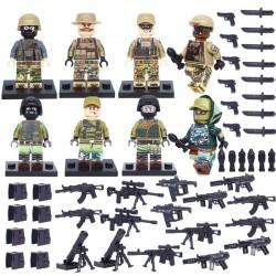 Figurky set USA vs RUS vojáků 2. Světová válka k LEGO