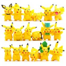 Figurky Pikachu 3-6 cm Pokemon 18 ks