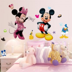 Samolepka na zeď Mickey a Minnie Mouse