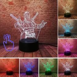 3D LED Lampička Deadpool MARVEL