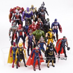 MEGA SET Figurky Marvel Avengers | DC Comics 24 ks