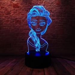 3D LED Lampička Elsa Ledové království