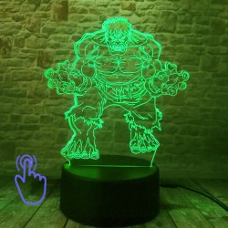 3D LED Lampička Hulk MARVEL