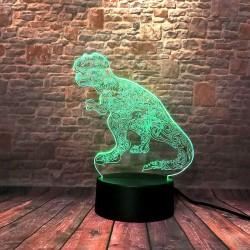 3D LED Lampička Dinosaur T-Rex Jurský Svět