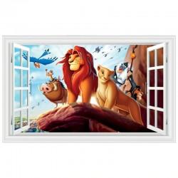 Samolepka na zeď Lví Král