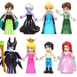 Figurky Disney Princezny a Princ k LEGO 8 ks