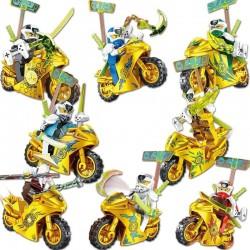 Figurky Ninjago Motorky k LEGO III zlaté
