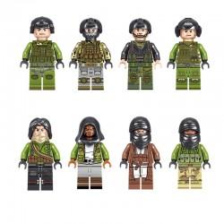 Figurky teroristé a vojáci ze speciální jednotky k LEGO