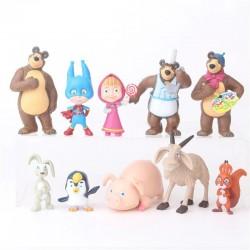 Figurky Máša a Medvěd 10 ks