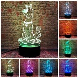 3D LED Lampička Scooby Doo