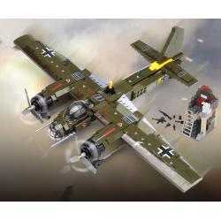Stavebnice vojenské letadlo 559 dílků