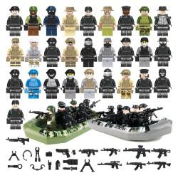 Figurky vojáků a lodě k LEGO 54 ks
