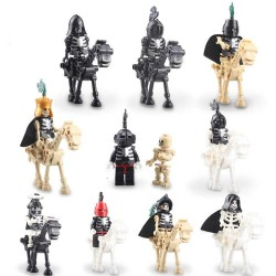 Figurky kostlivci a koně k LEGO 20 ks