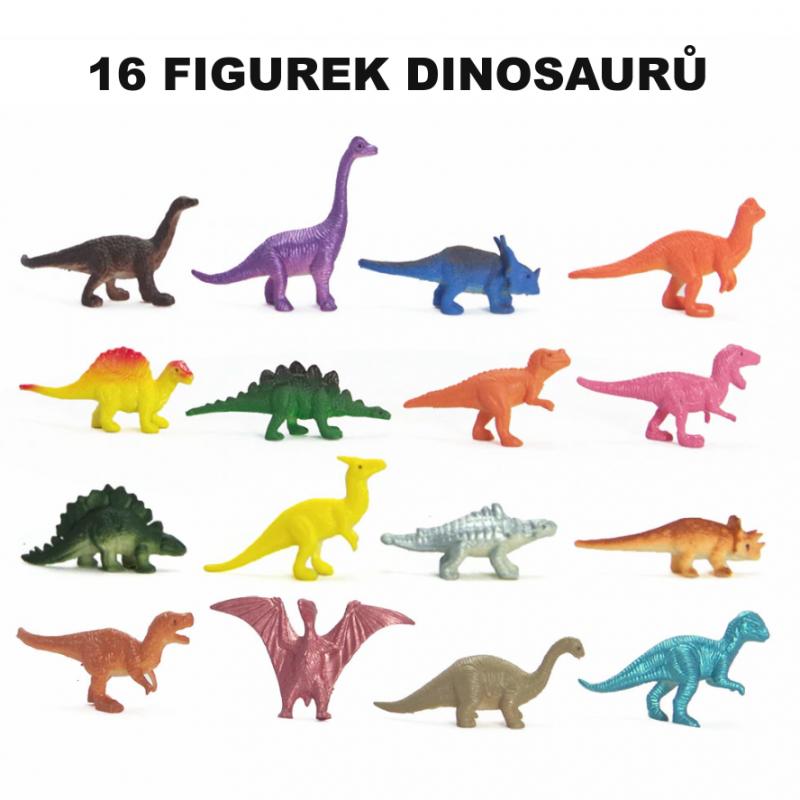 Figurky Dinosauři 16 ks